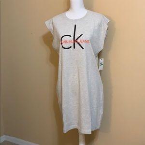 NWT CK Jeans Sleeveless Tee Shirt Dress.